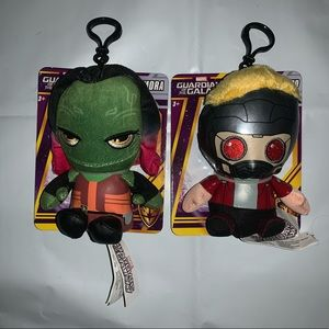 "MARVEL ""GAMORA & STAR-LORD"" PLUSH BAG CLIPS"